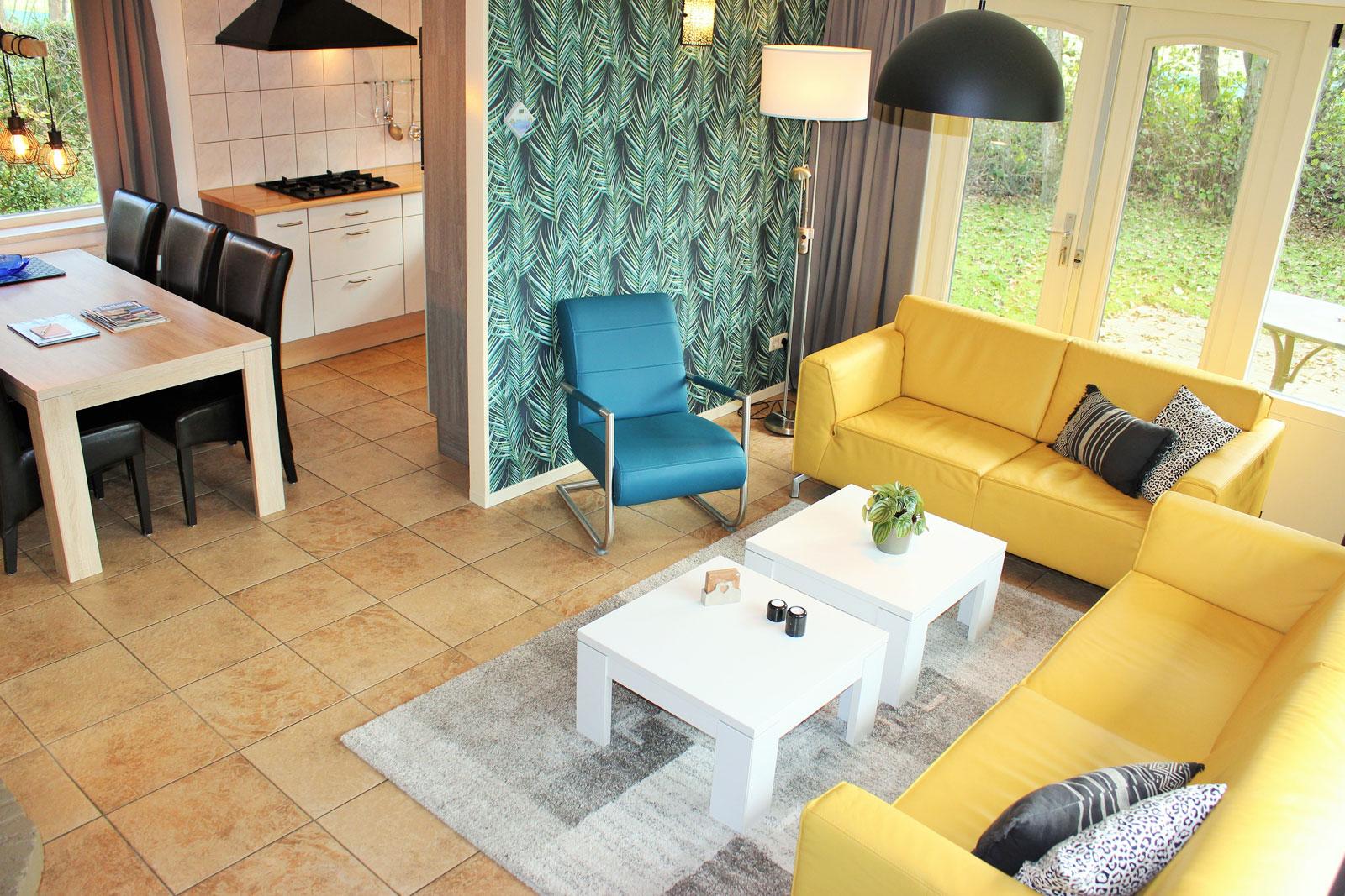 vakantiehuizen nr 12 en 14 woonkamer