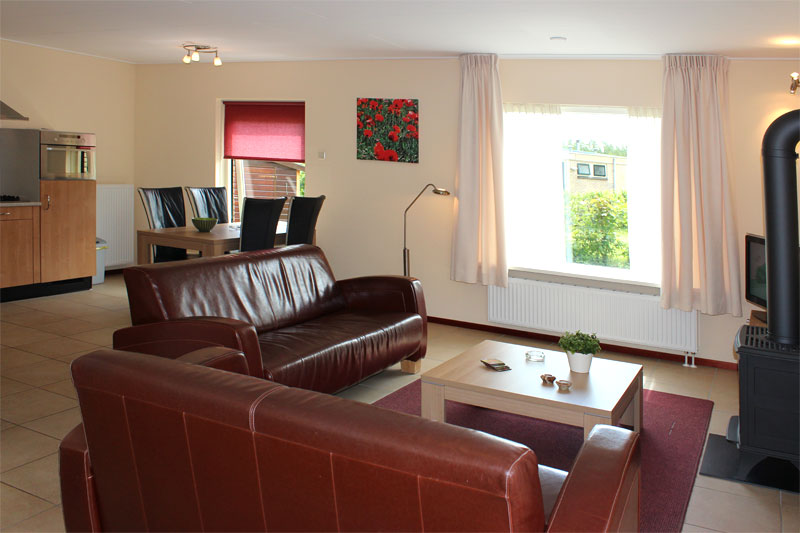 Bungalows 491A 493A woonkamer